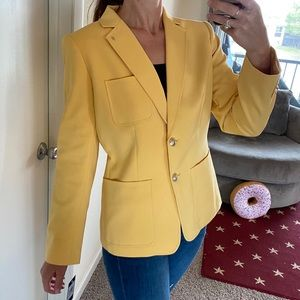 Tommy Hilfiger yellow professional blazer size 12